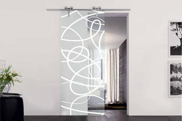 Porte tutto vetro sear di azzarello - Porta scorrevole esterna vetro ...
