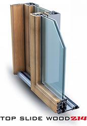 Serramenti alluminio palermo legno Slide Wood 160